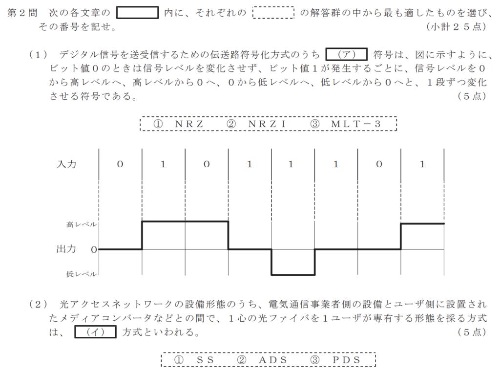 一般財団法人日本データ通信協会「令和元年度第2回工事担任者試験問題 DD第三種」